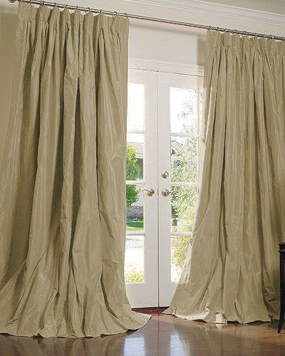 THE | OUTLET - Solid Silk Taffeta in Drabware